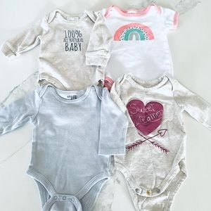 Baby onesies (set of 4)